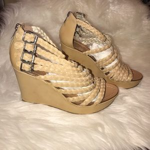 Sigerson Morrison Strappy Wedge Heels